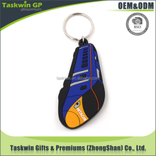 2017 cheap premium gifts high quality soft PVC keyring in car shape,plastic keychain of creation