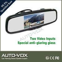 China supplier of 7 inch rear view mirror car monitor with OEM style replacement bracket