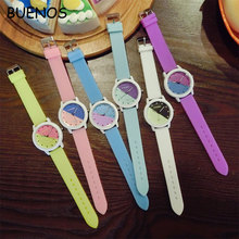 Cute Simple Student Colorful Silicone Strap Couple Watches