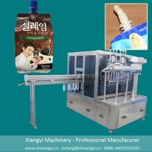 Filling and sealing machine for shaping bag