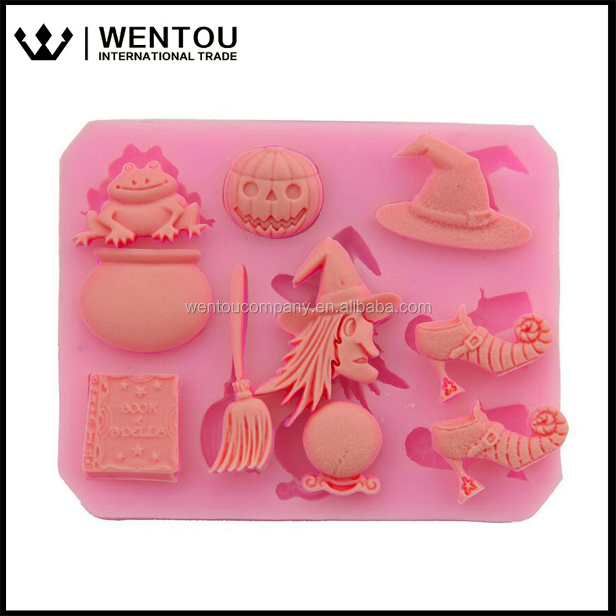 Wholesale Halloween Witch Silicon Cake Mold