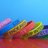 Personalized Silk Printing Silicone Bracelets Wristbands