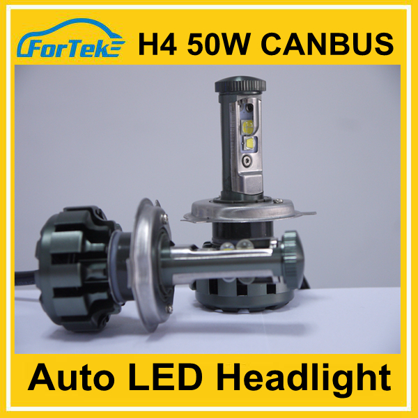 China high quality h4 high/low car led headlight 50w 5000lm for car for motorcycle
