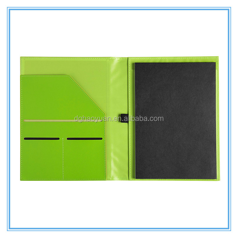 New style Assorted Colors Portfolio, A4 Leather Portfolio With Calculator and Notepad/Zipper Leather Portfolio