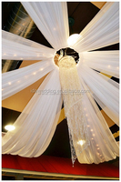 white chiffon ceiling drapes/wholesale ceiling drapery fabric/sheer voile ceiling draping wholesale