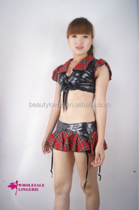 Adult Sexy Latex School Girl Costume Photos