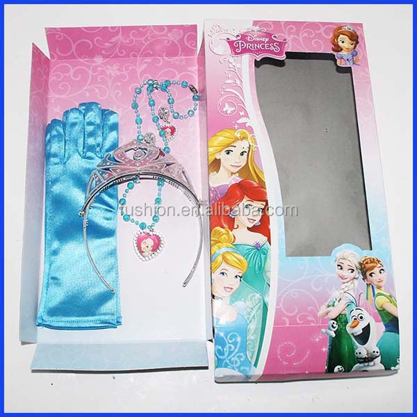 Halloween costume party frozen queen Elsa Anna crown set