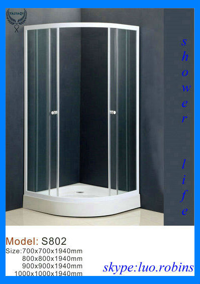 china standard size 2 side door sliding dormitory shower rooms
