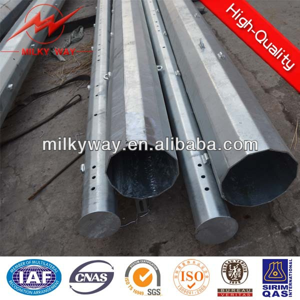 220KV power transmission lines galvanized steel pole,electrical poles manufacturers