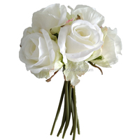 China hot sale silk fake artificial 7-Head Rose Bundle flowers