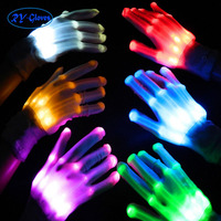 RYL001 Lanxi Ruiyi nylon wholesale stage dance colorful shine LED hand gloves