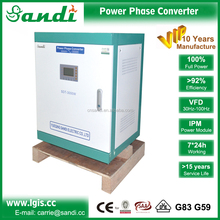 converter single to three phase for operating 3 phase machineries 3-30kw