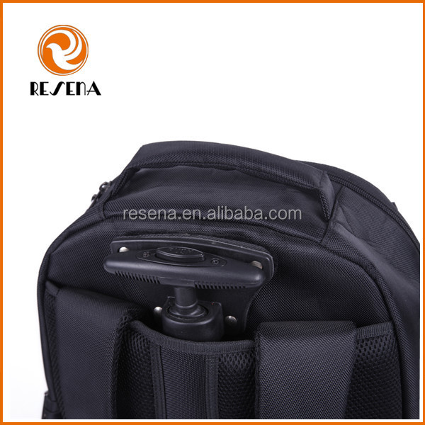 Travel Trolley Rolling Backpack With Detachable Wheels