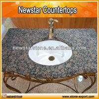 Polished granite countertop bathroom