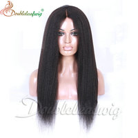 8A grade brazilian human hair kinky straight overnight delivery lace wigs