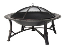 outdoor garden 30-inch steel bowl fire pit