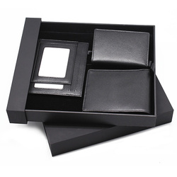 Best business genuine leather gifts set for men with wallet& card holder& jotter