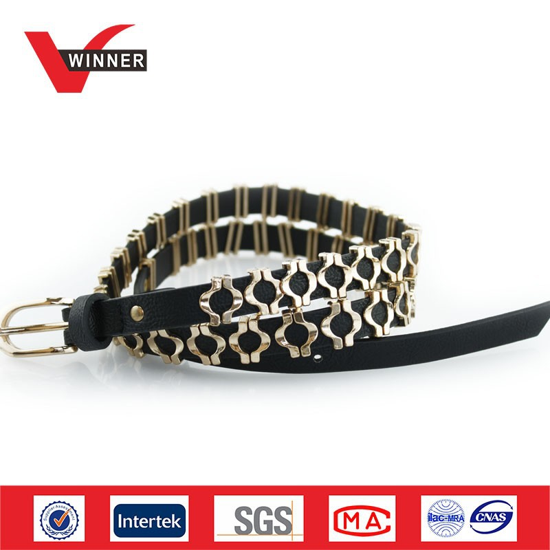 2014 Durable ladies heavy metal belts