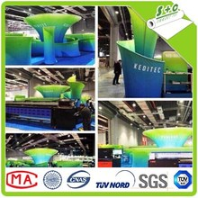 knitted white direct printing polyester tension fabric display structure