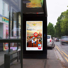 Road side customzied outdoor lcd display for bus station