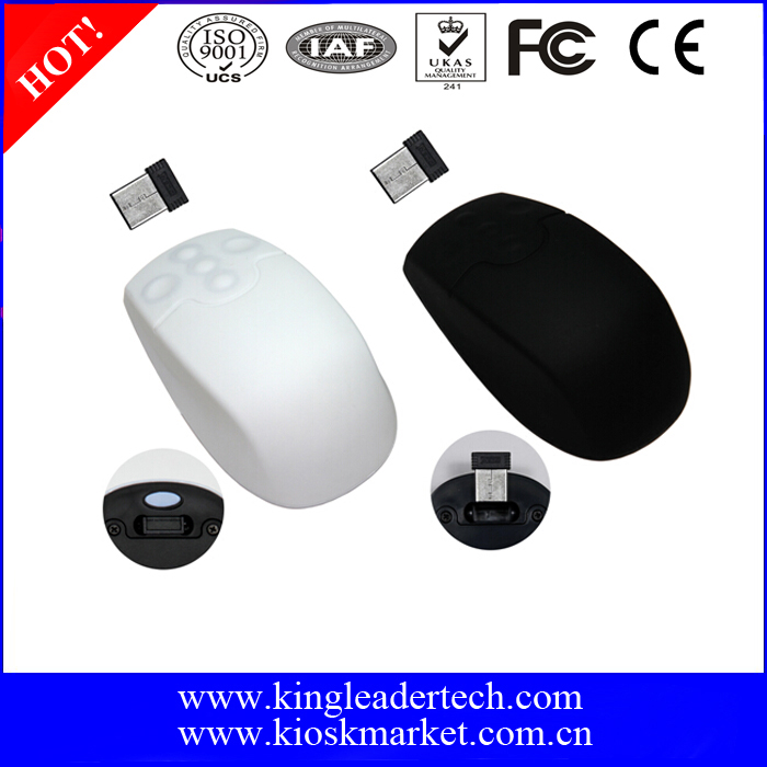 Wireless Silicone Optical Mouse Featuring IP68 Compliance