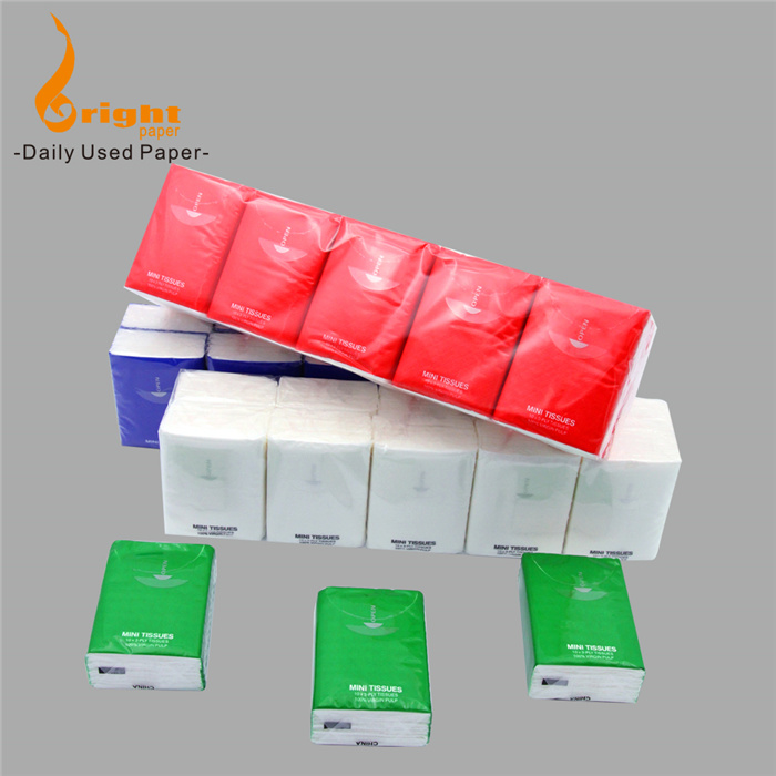 Lowest Cost 2 Ply/3 Ply Pocket Pack Mini Facial Tissue Paper Handkerchief