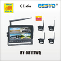 "7"" wireless digital monitor & 4PC wireless camera 4 QUAD digital monitor systems BY-08117WQ"