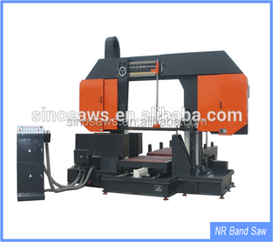 GZ42100 China Double Column Hydraulic Horizontal Band saw machine woodworking multiple blade rip sawmill