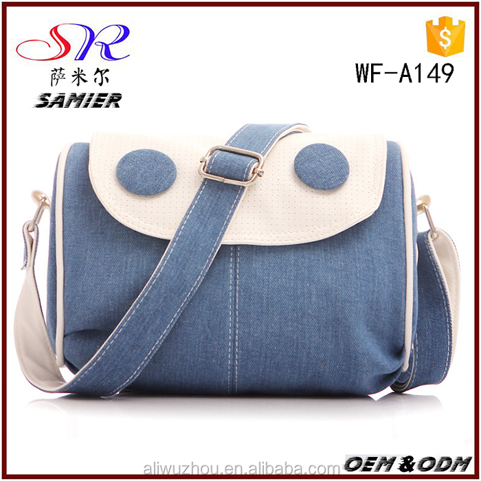 2016 hot sale canvas crossbody lady bags shoulder bag fashion China suppiers online shopping