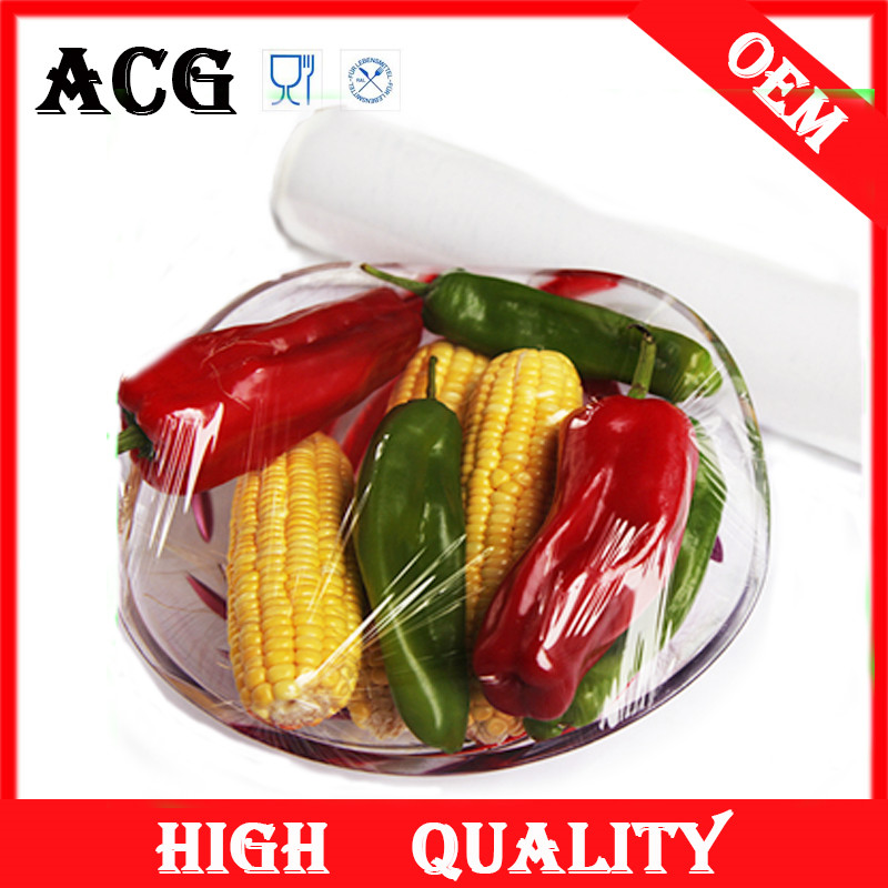 Fruits and vegetables clear protective plastic film for catering
