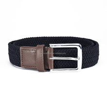 mens womens ladys boys elastic cotton canvas fabric leather rope web belt with inlay alloy belts buckles