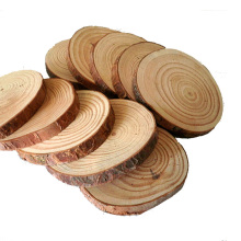 Decoration Hand Drawing Craft Natural Wood Slices with Bark