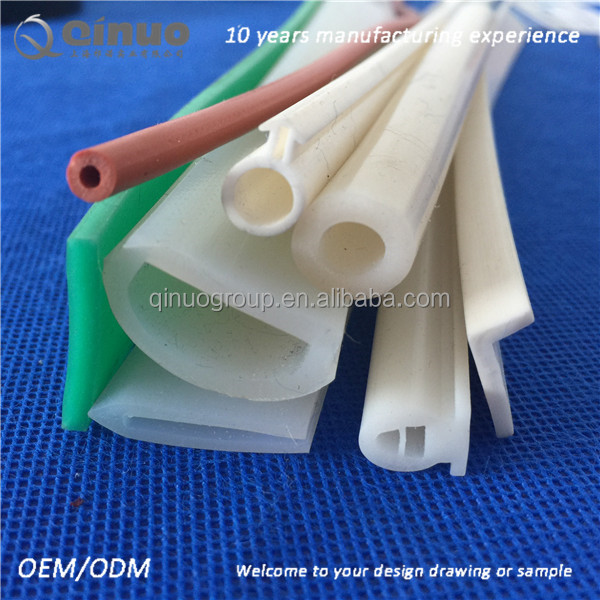 Good quality rubber extrusion heat-resistant solid silicone rubber seal strip