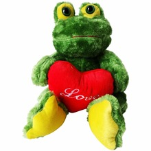 plush toy frog with heart , frog plush stuffed animal toy