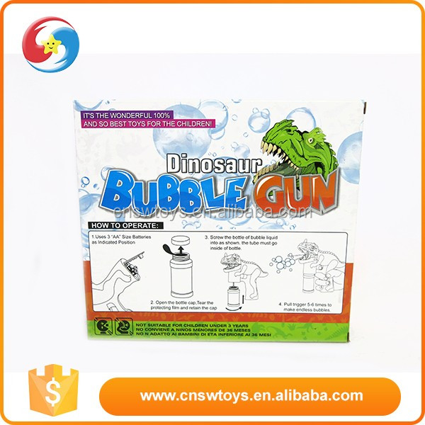 Factory directly high quality gun play kids plastic bubble set with light & sounds