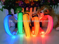 2013 New Arrival New Products Adjustable by Stainless Steel ring led flash light dog/cat collar