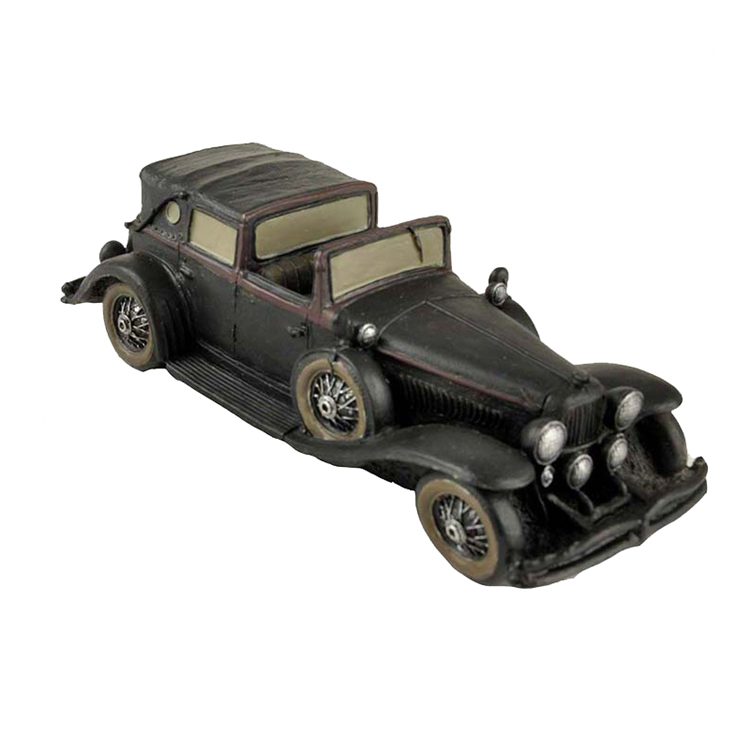 Antique small size classic car vintage resin car model