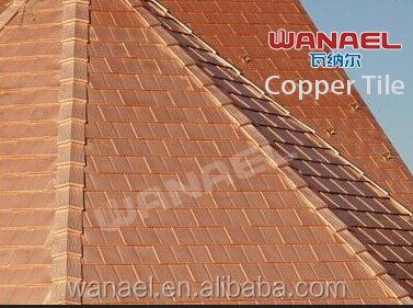 Factory price new commercial product bronze copper roof shingle