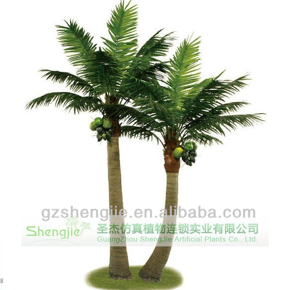 Big artificial coconut palm tree decoration and fake coconut tree