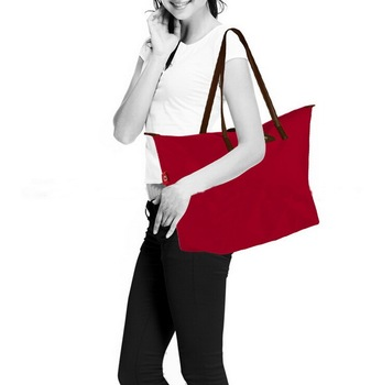Ladies large fashion trendy handbag, waterproof swimming beach tote shoulder bags with custom logo