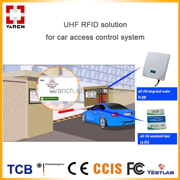 Vehicle uhf rfid access control system for parking