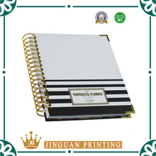 Custom high quality 2018 day weekly planner organizer notebook