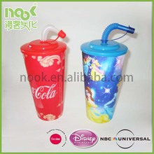 Personalized Kids Plastic Cups with Straws