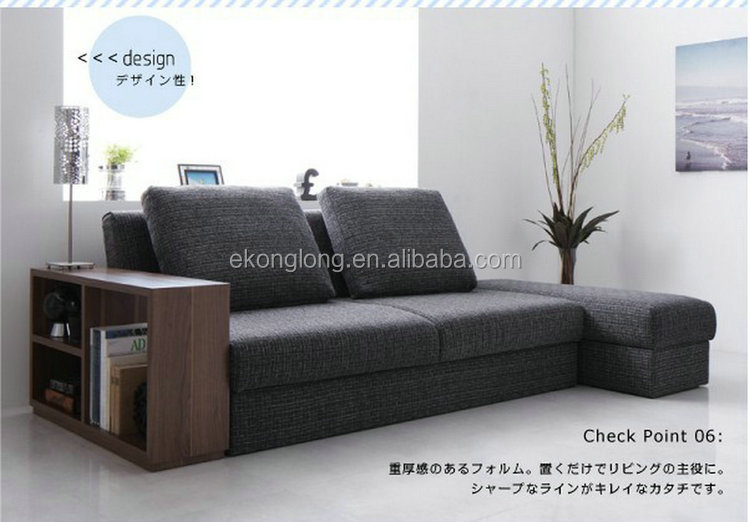 Competitive price futon /european style scorner sofa bed with storage
