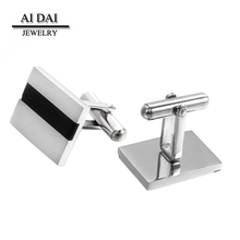 Stock wholesale high quality stainless steel cufflinks for men