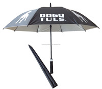 58.5 auto fiberglass ribs straight uv ad umbrella fabric dog print