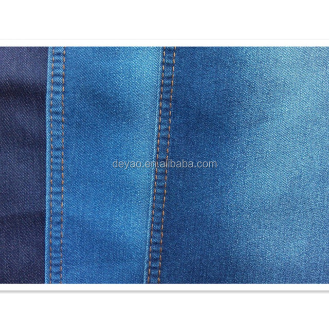 Extra Soft and Smooth Woven Knit Stretch Denim Fabric from Guangdong Direct Manufacturer