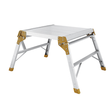 Professional made folding durable aluminium portable bench work platforms, adjustable work platform
