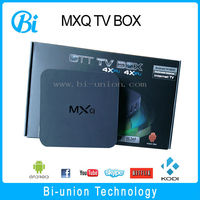 MXQ Amlogic S805 Quad Core Xbmc Tv Box Android 4.4 Kitkat H.265 Wifi LAN Miracast Airplay HD 1g RAM 8g ROM tv box