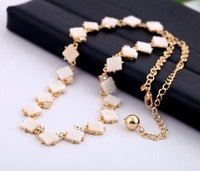 White Square Shell Fashion Women Crystal Choker 2017 Latest Necklace